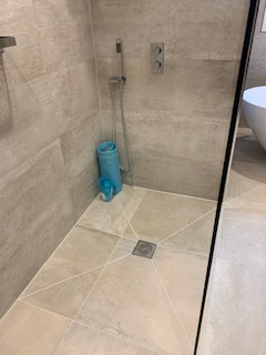 Wet room tiling